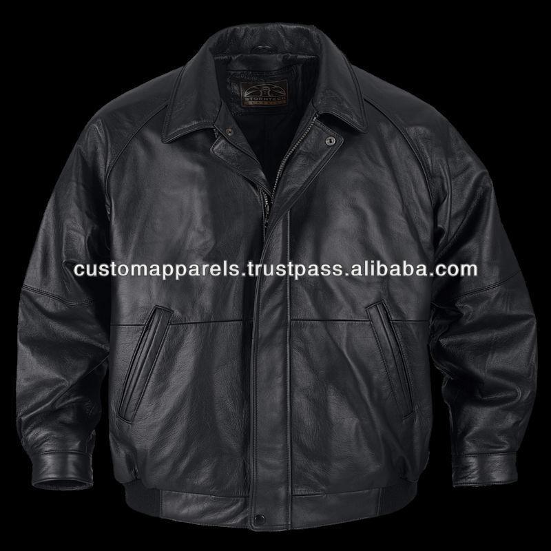 Black dress leather jacket ykk