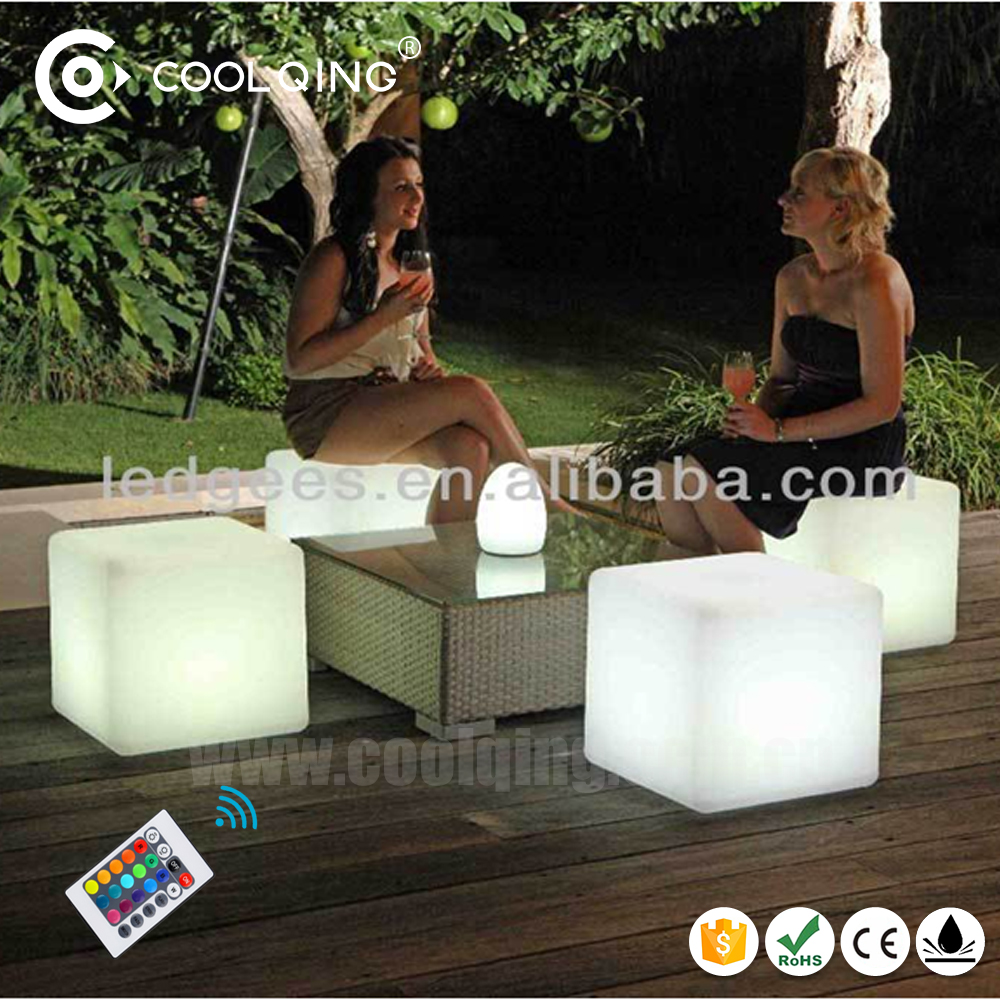 Gmarket Weather ! Event Party illuminated Led Cube Chair Led Sitting Cubes