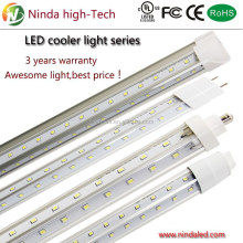 Super bright V type 44w 8ft LED freezer cooler tube light fixture for walk in cooler direct replacement T8 T12