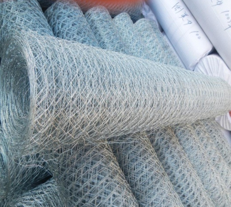 Hexagonal Wire Netting for Gabions / Hexagonal Retaining Wall Wire Netting