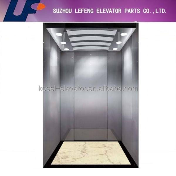 China popular stainless steel cabin design with celing and floor,China passenger/home lift cabin deisgn price from Manufacturer