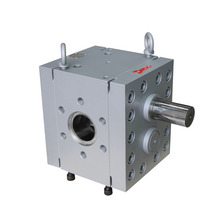 Herringbone gear design pump for extruder process