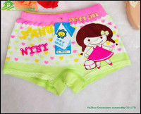 Bamboo fiber cute cartoon underwear for little girls and kids underwear boxer shorts GVFR0015