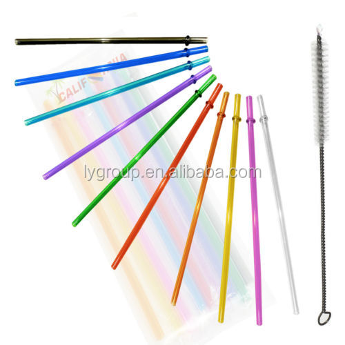 color crazy plastic drinking curly loop straws/customized color plastic straw