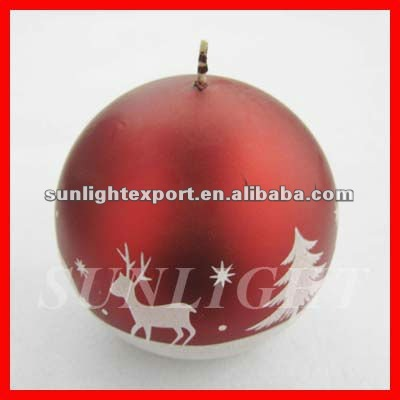 christmas candles,christmas ball candle,rould candles