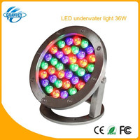 High power 36w ip68 led pool light 12v 36w stainless steel Epistar Red/Green/Blue/White/RGB