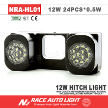LIFETIME WARRANTY Black Waterproof offroad led trailer lights 12w hitch back up light 12v