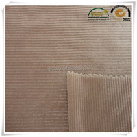 high quality 100% polyester ladies garment corduroy fabric