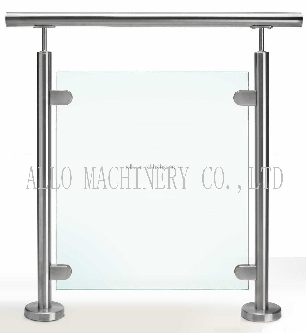 glass stair fitting stone prices of stainless steel balcony railing