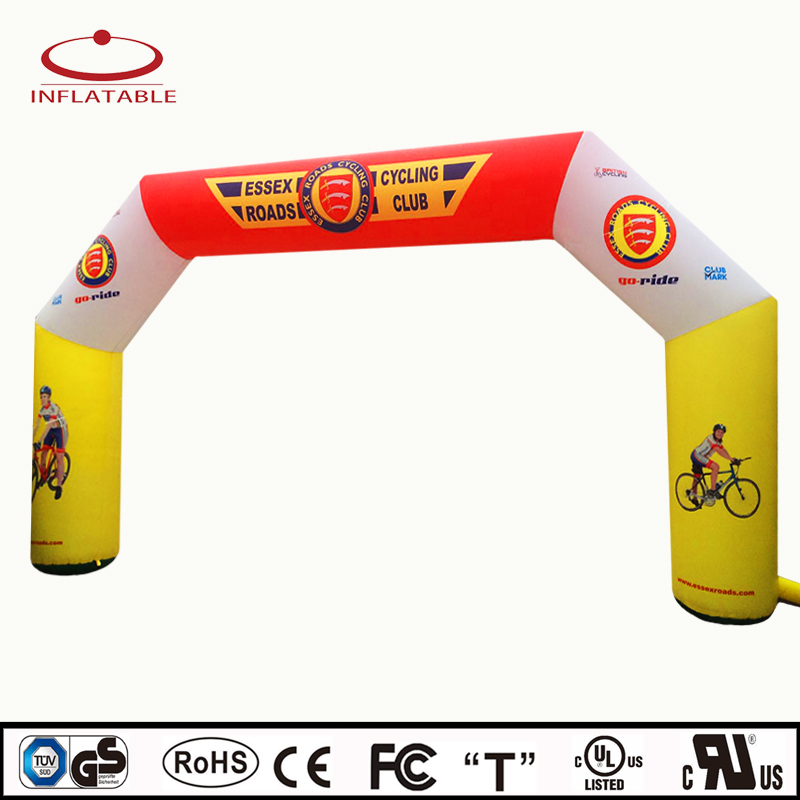 8x4m freestanding inflatable racing run arch/gate for event