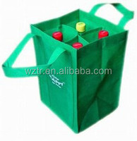 2016 new arrival custom hot sale fashion disposable wine tote bag wholesale