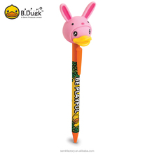 Animal head shape factory direct selling advertising plastic ball pen for sale