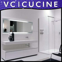 American project white bath vanity