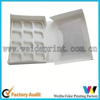 diy cup cake box one sheet box food packaging box