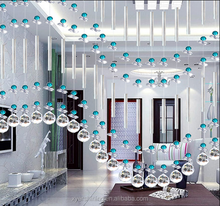 2015 New Decorative crystal bead curtain for decoration,crystal hanging bead room divider