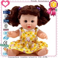 2017New design wholesale plastic talking 12inch doll for kids