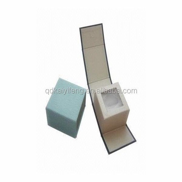 custom flip magetic small fancy paper with window cardboard jewelry packing box