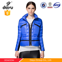 Fashion korea style women winter clothes with soft shell high quality duck down winter clothes for ladies and girls