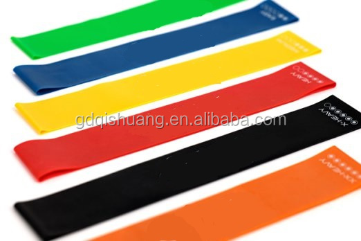1.2/1.5m Durable Yoga Pilates Rubber Stretch Resistance Band Exercise Fitness Belt (Random Color)