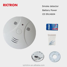 Battery powered smoke detector automated home system