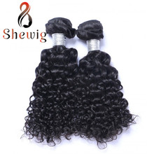 2 Bundle unprocessed Indian Virgin Curly Hair Weaving for African American Black Women