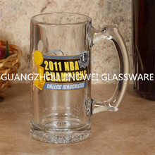 500ml customized printed beer stein beer glass