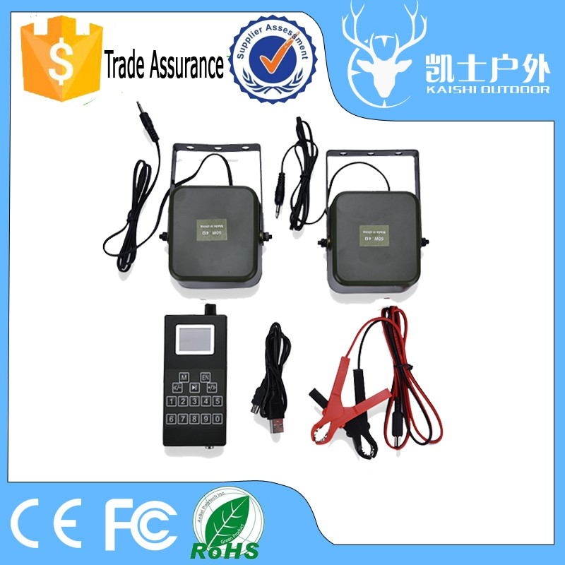 Factory hot selling waterproof hunting bird sound mp3 hunting attractor with power off memory