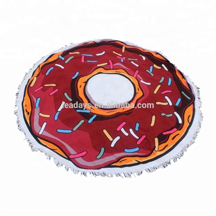 High Quality 100% Microfiber Large Thick Round Donut Beach <strong>Towel</strong> for Travel