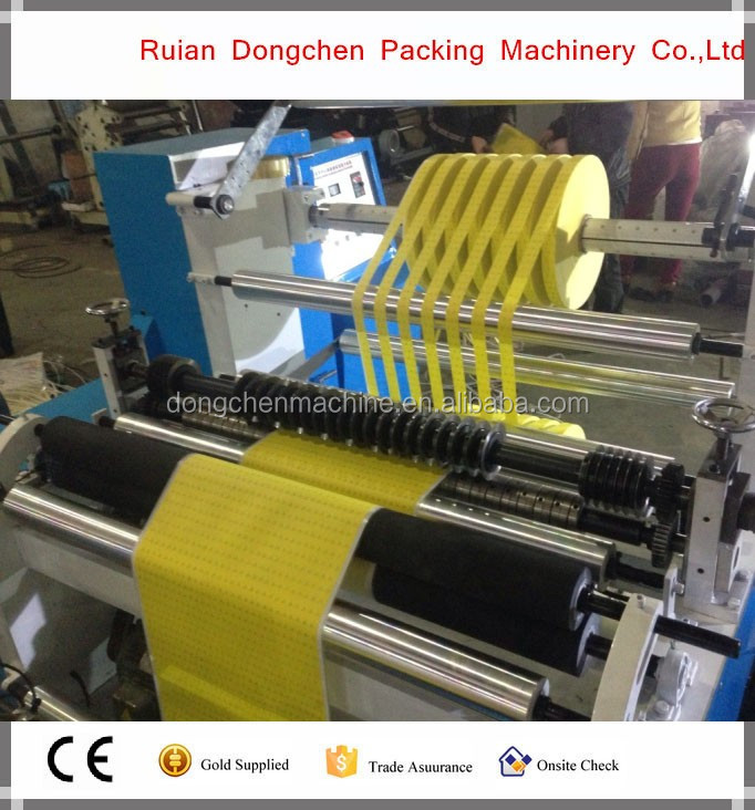 Plastic PE BOPP film roll Horizontal type slitting machine