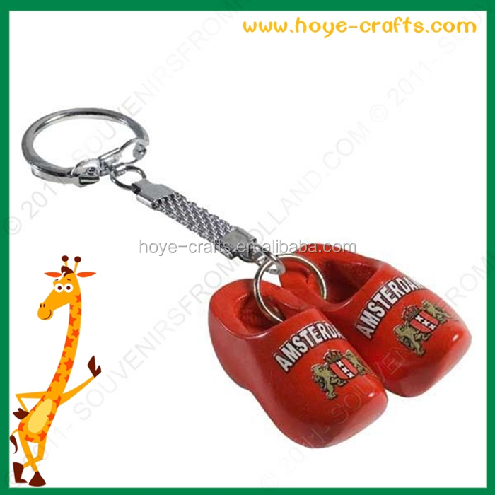 holland style key chains red windmill shoes key chains