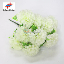 No.1 yiwu exporting commisssion white cheap artificial hydrangea flower making