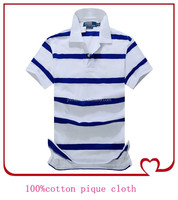 Top sale China supplier 100 cotton cheap men striped polo collar tshirt design
