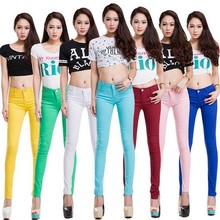 Fashion Women Sexy Candy Color Pencil Trousers, Casual Pants, Skinny Pants