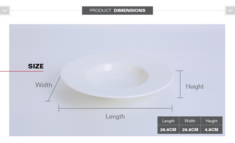 Wholesale round shape porcelain dinner soup plate china table ware for restaurants