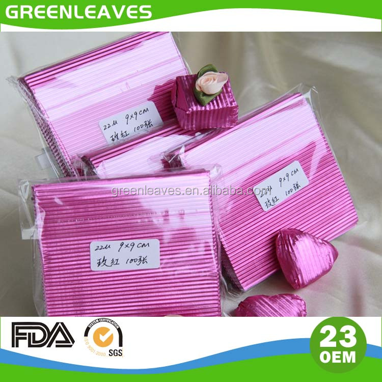 colorful corrugated chocolate aluminium foil wrapping
