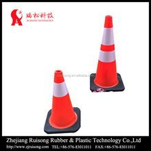 45cm red pvc cone,PVC reflective traffic cone shape