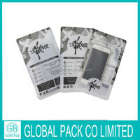 customized printed three side quad seal bag for mobile phone