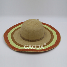 Alibaba Express Summer Women Straw Hat colorful wide brim beach hats
