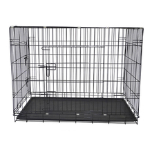 Cheap wholesale anti rust travel various sizes collapsible metal dog kennel with tray