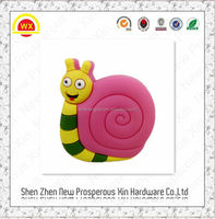 Cute cartoon colorful snail furniture hardware rubber drawer handle and knob
