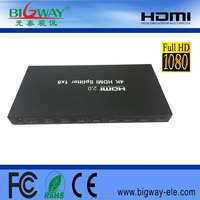 2016 factory Wholesale 1x8 HDMI splitter Compatible with HDCP with high quality made in China