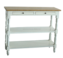 high quality classical solid wooden white console table