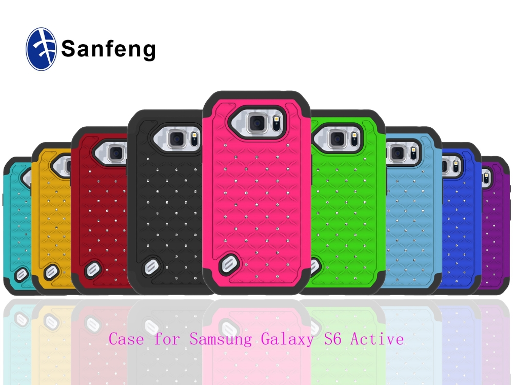 hot selling phone case for Samsung Galaxy S6 Active G890 with bling diamond
