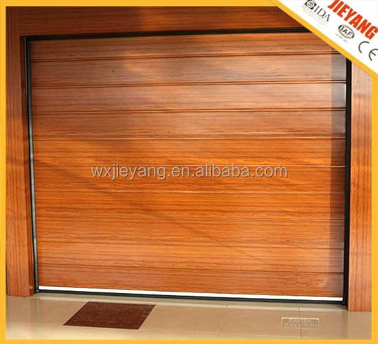 wooden color high quality sectional automatic garage <strong>door</strong>