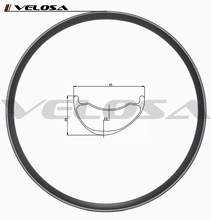 Velosa 29er plus carbon asymmetric AM/DH mtb rims 45mm width 3.5mm offset carbon disc wheels