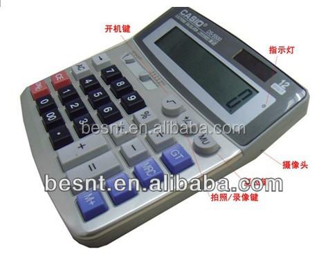 4gb tf card calculator mini camera, small mini hidden camera BS-796