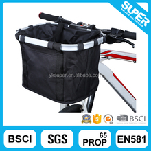 Folding bike front rack basket carrying pet dog bicycle bag basket