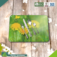 Eco-Friendly easy cleaning waterproof design custom pp quilted table mats