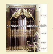 fashion luxious window curtains for living room