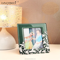 Lime green crystal design photo fashion picture frame